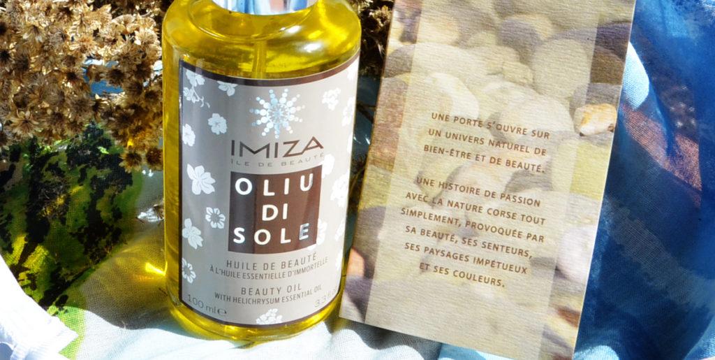 Photo d'un flacon Oliu di Sole Imiza sur Swanee Rose Le Blog