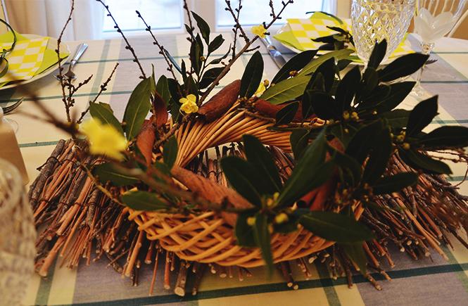 Photo du centre de table à Pâques sur Swanee Rose Le Blog