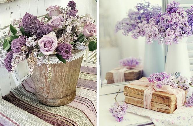 Photos de bouquets de lilas mauve pastel sur Swanee Rose Le Blog