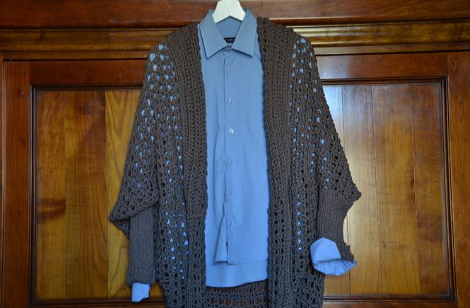 Photo d'une veste longue en coton sur Swanee Rose Le Blog