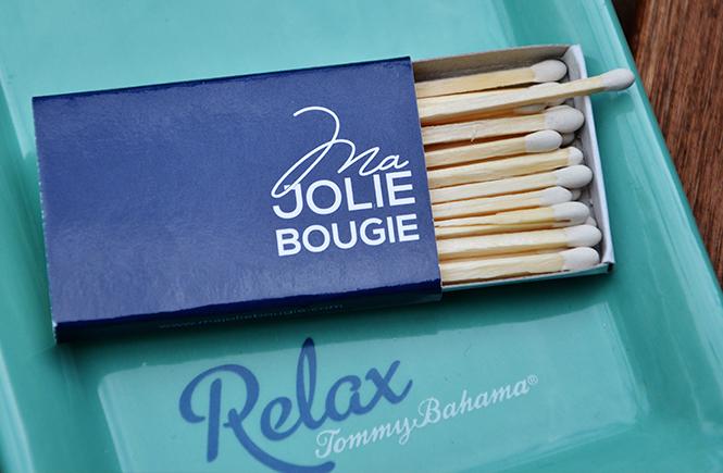 Photo d'une boîte d'allumettes Ma Petite Bougie sur Swanee Rose Le Blog