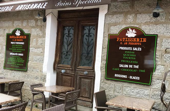 Boulangerie du village Zonza Corse
