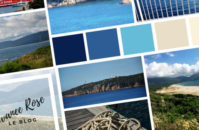 Moodboard de la Corse en mai côté Mer sur Swanee Rose Le Blog