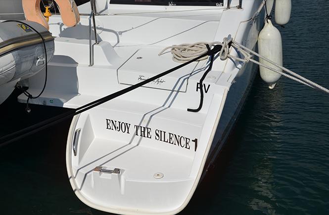 Gros plan sur un bateau à Propriano Corse du Sud