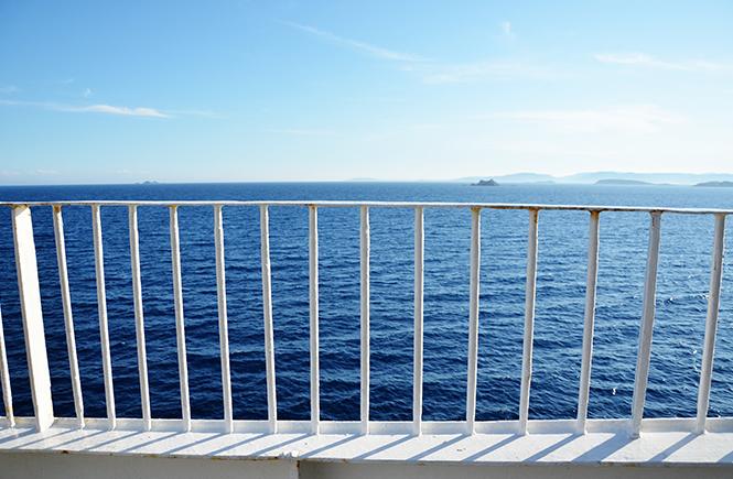 Vue sur la mer du pont du Paglia Orba