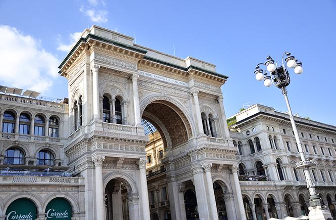 entrée-galerie-vittorio-emmanuelle-coté-duomo-milan