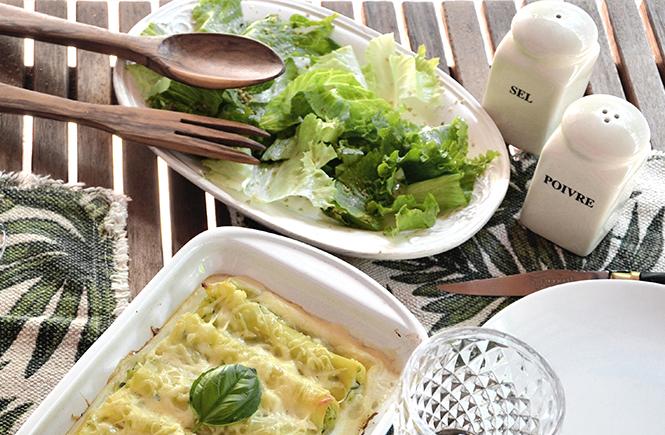 cannelloni-courgettes-avec-salade-verte