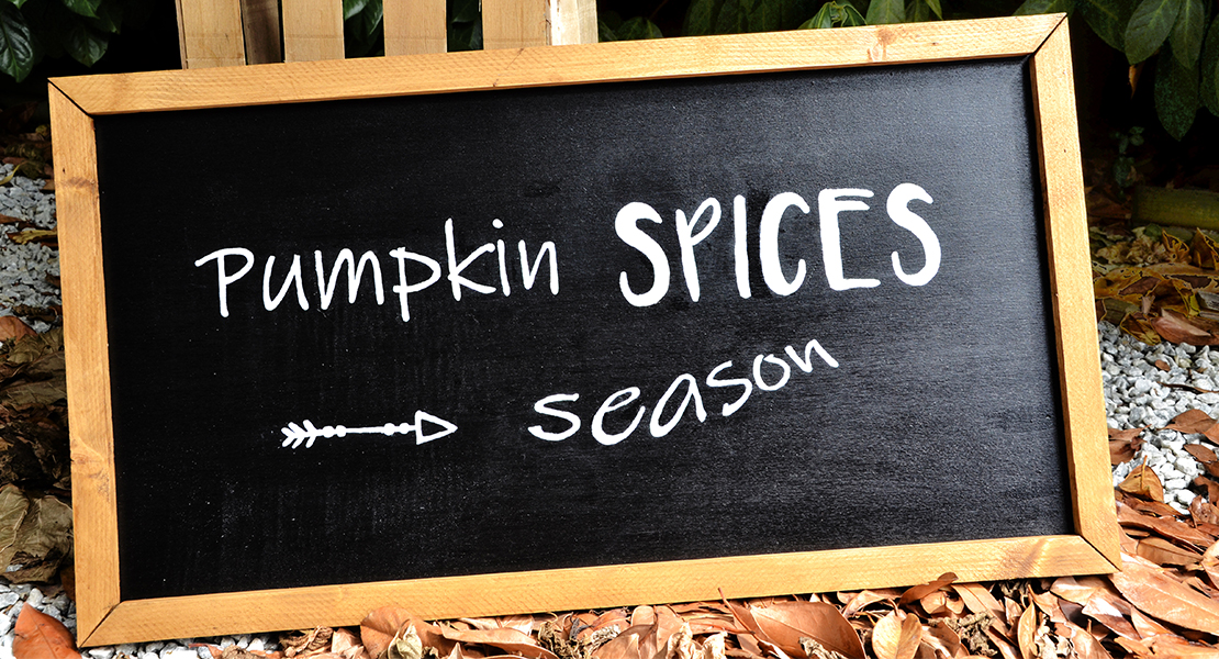 Enseigne Pumpkin Spices season sur Swanee Rose Le Blog