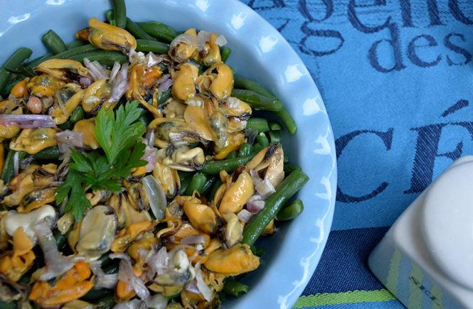 salade-de-haricots-verts-à-la-marinade-de-moules