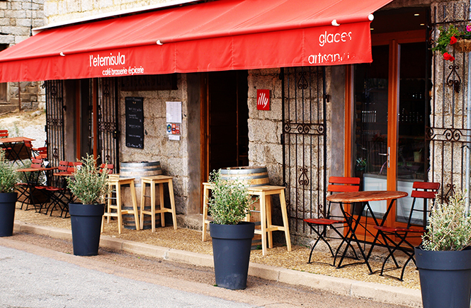 L'Eternisula Café à Zonza Corse du Sud