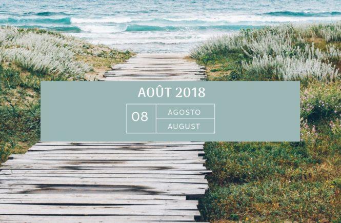 Mon agenda d'août