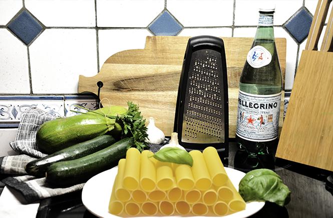 ingrédients-pour-cannelloni-aux-courgettes