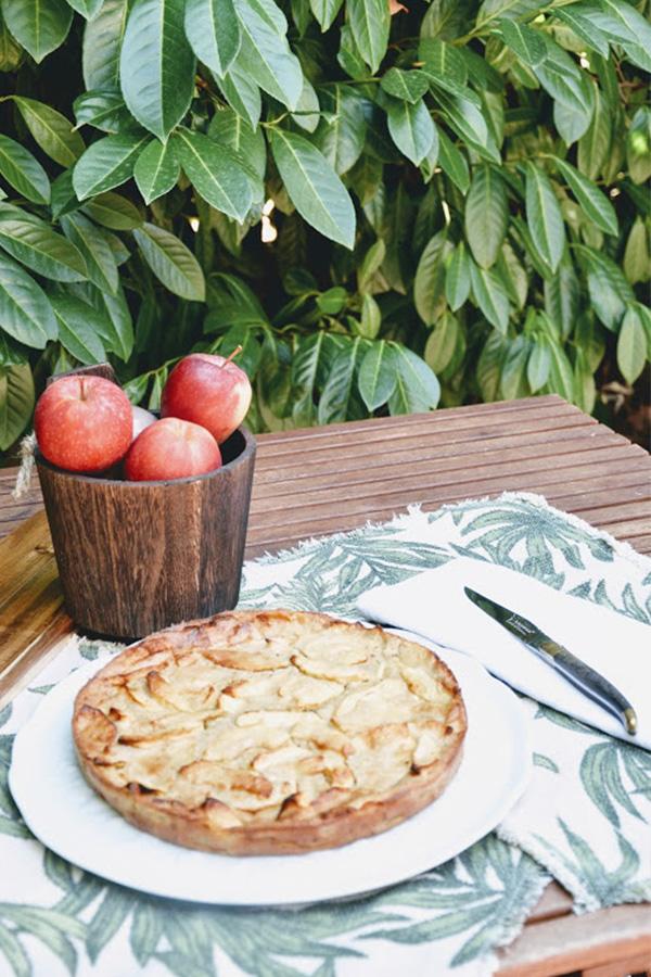 Recette du clafoutis aux pommes sur Swanee Rose Le Blog