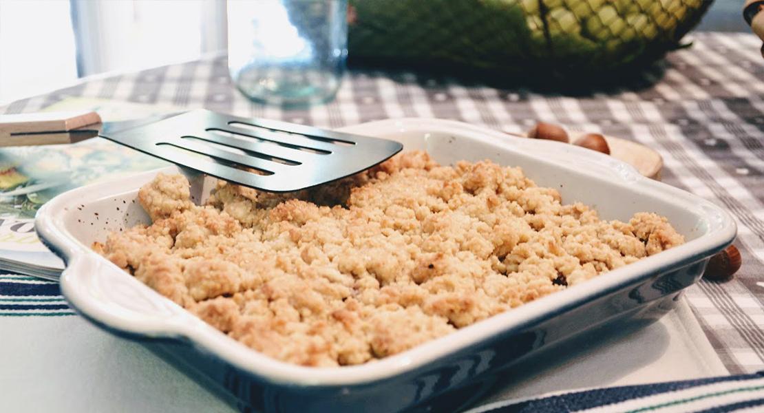 Recette Crumble pommes framboises sur Swanee Rose Le Blog