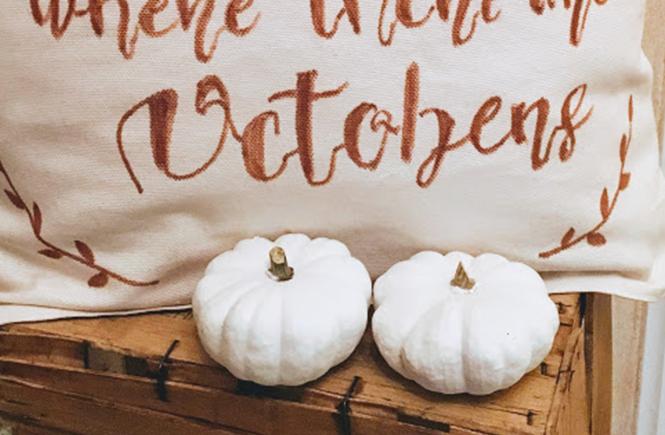 Coussin de bienvenue Octobre