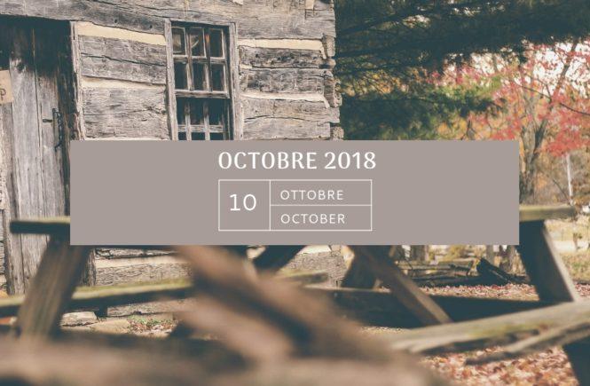 Mon agenda Octobre 2018