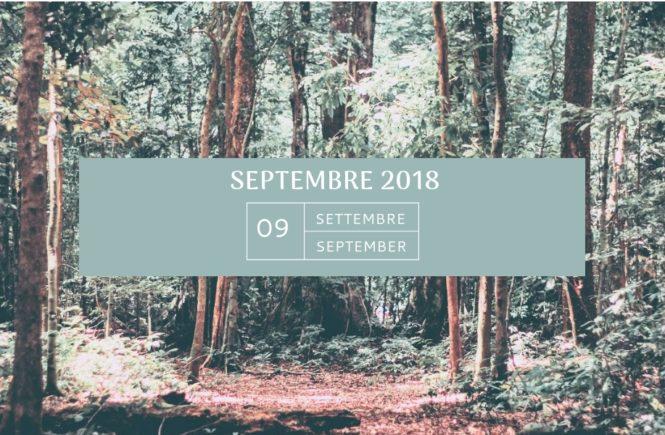 Mon agenda de septembre 2018 Swanee Rose Le Blog