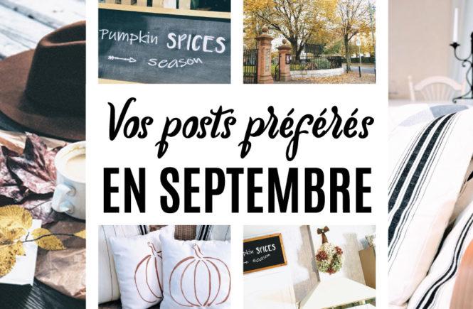 Posts préférés en septembre sur Swanee Rose Le Blog