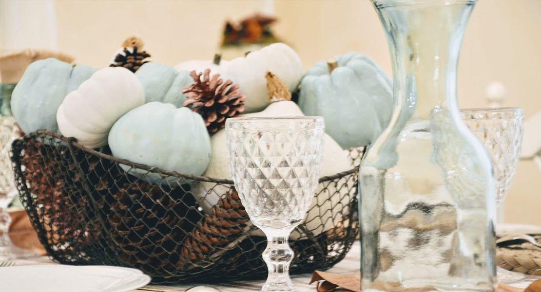 Table d'automne pour repas de famille