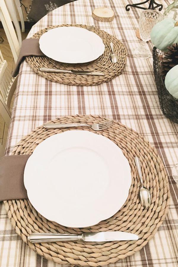 Table d'automne pour repas en famille