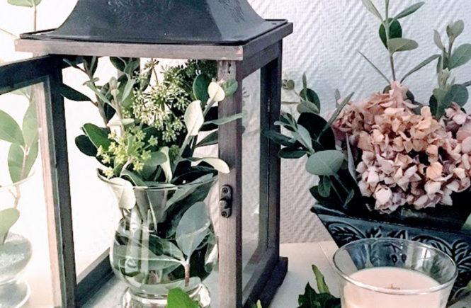 Décor de feuillages d'automne pour le salon sur Swanee Rose Le Blog