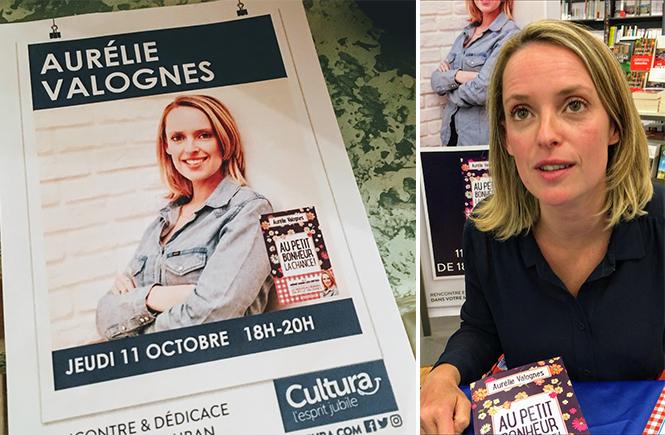 Séance de dédicace par Aurélie Valognes