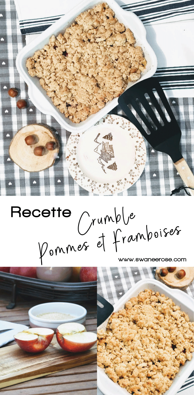 Crumble Pommes Framboises sur Swanee Rose Le Blog