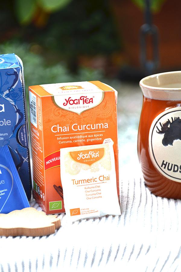 Tisanes d'automne Yogi Tea sur Swanee Rose Le Blo