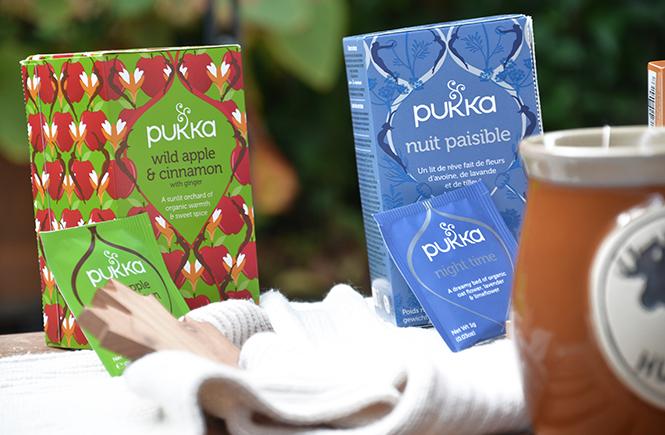Tisanes d'automne Pukka sur Swanee Rose Le Blo