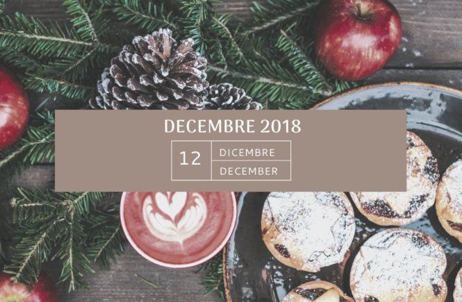 Mon agenda de DECEMBRE 2018