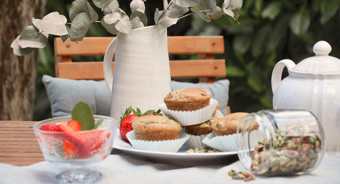 Recette Muffins fraises pistache Swanee Rose Le Blog