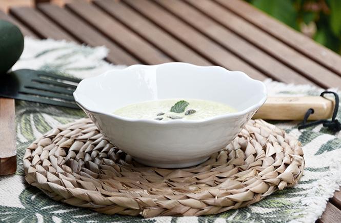 Recette Crème Courgettes Menthe Feta sur Swanee Rose Le Blog