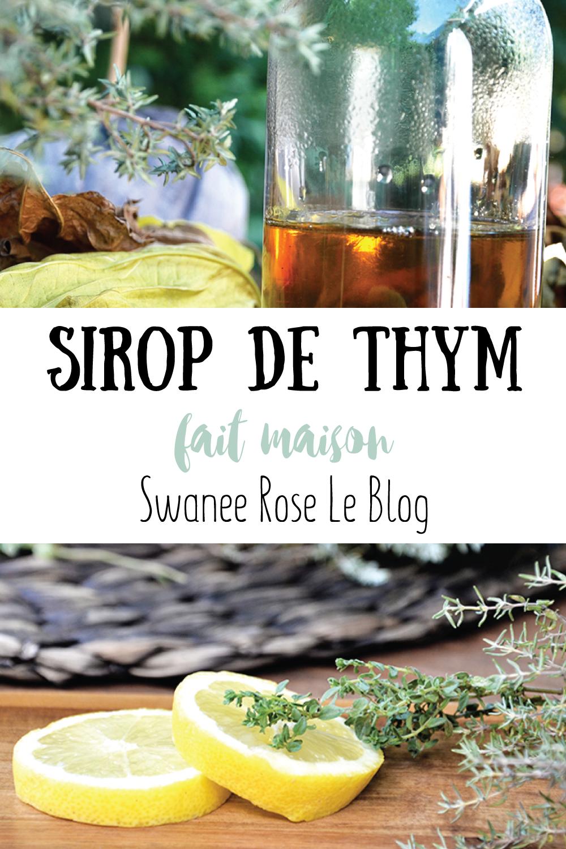 Recette bio Sirop de thym frais Swanee Rose Le Blog