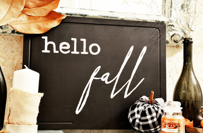 DIY Enseigne Hello Fall