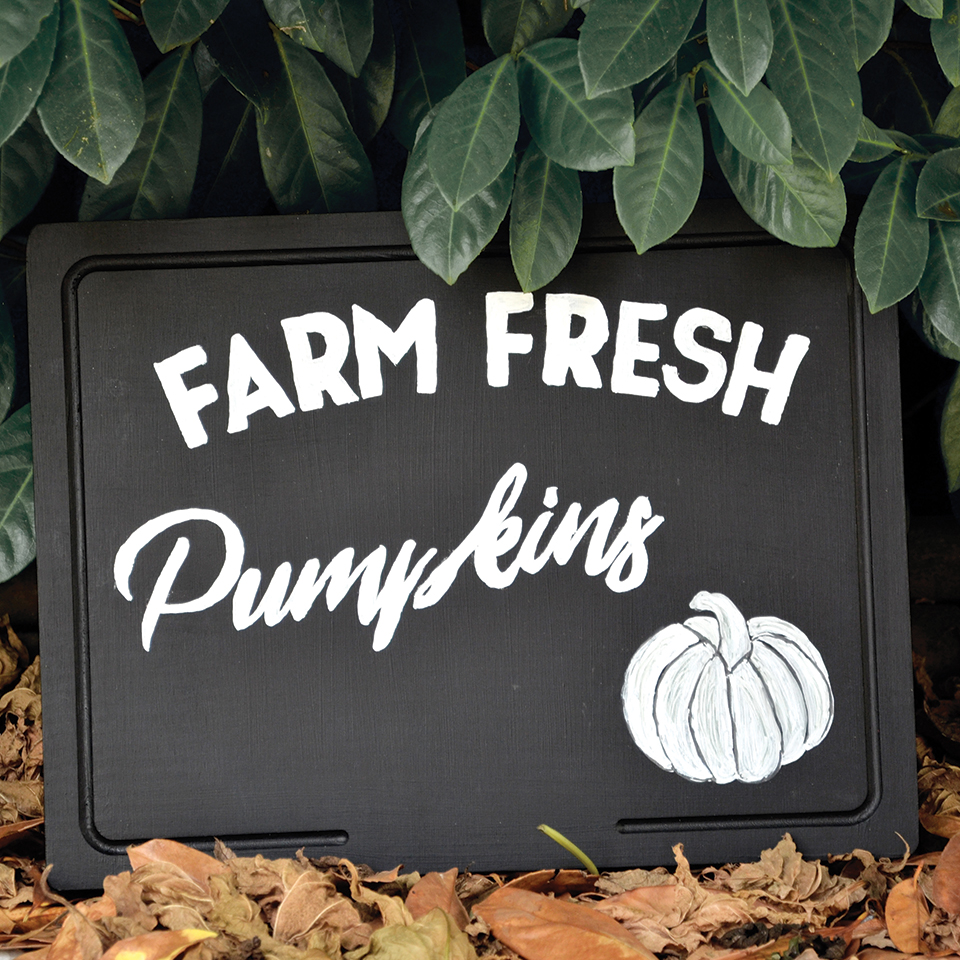 DIY Farm Fresh Pumpkins Enseigne