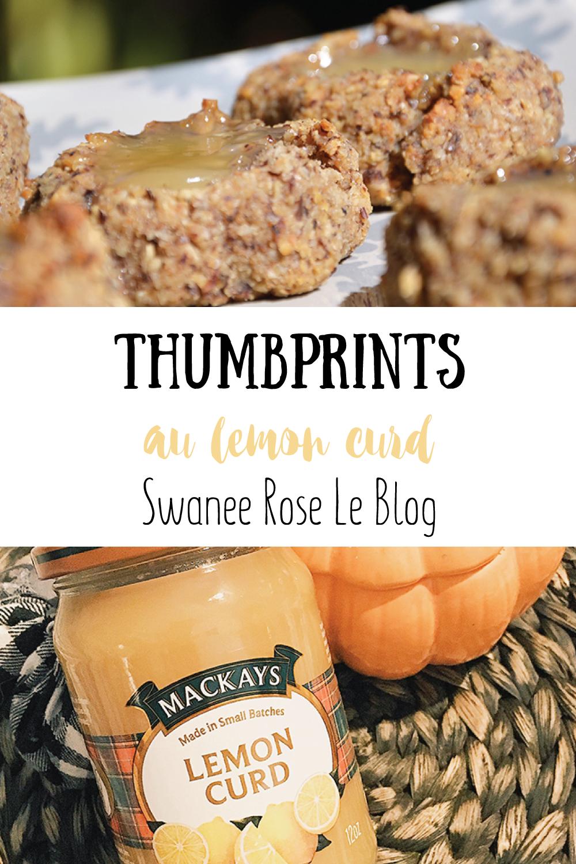 Recette des thumprints au lemon curd sur Swanee Rose Le Blog