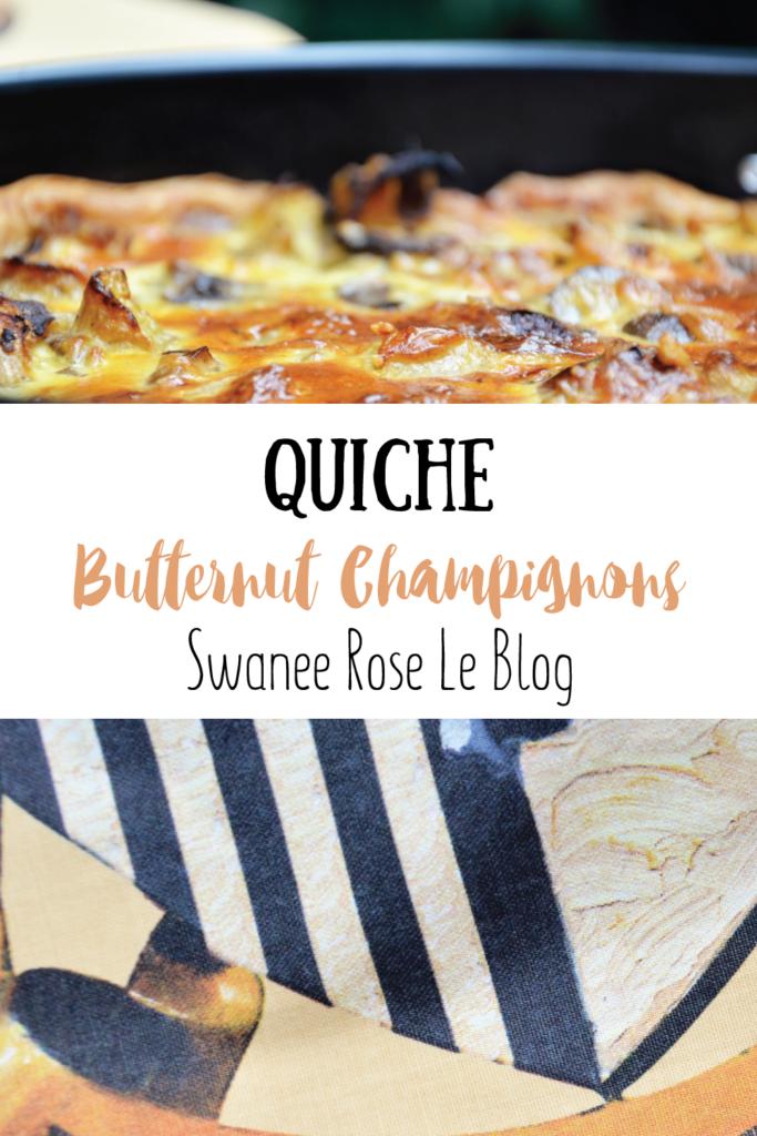 Epingle Pinterest pour ma recette de quiche Butternut Champignons