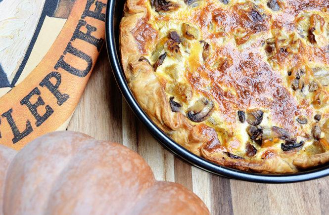 Recette de quiche Butternut Champignons sur Swanee Rose Le Blog