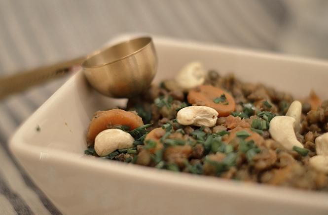 Lentilles Carottes Céleri Noix de cajou
