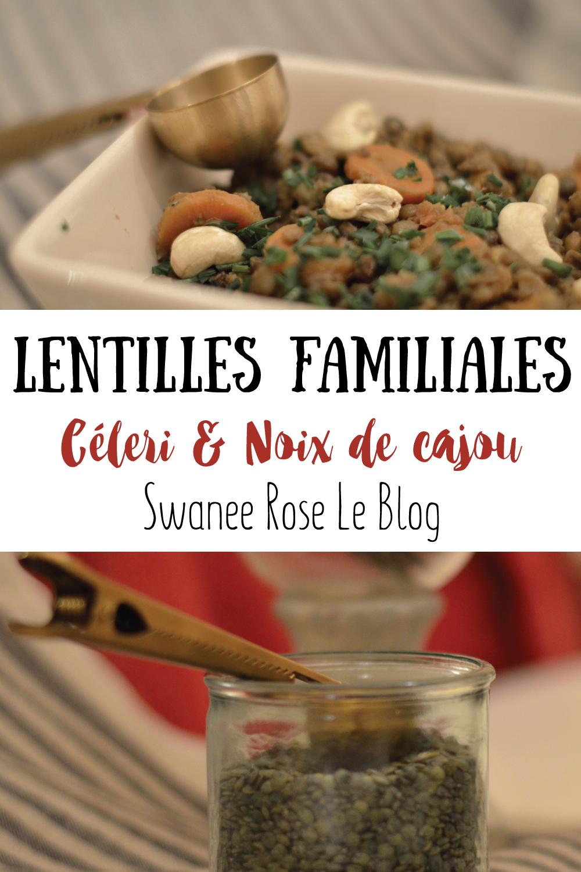 Lentilles Carottes Céleri Noix de cajou sur Swanee Rose Le Blog