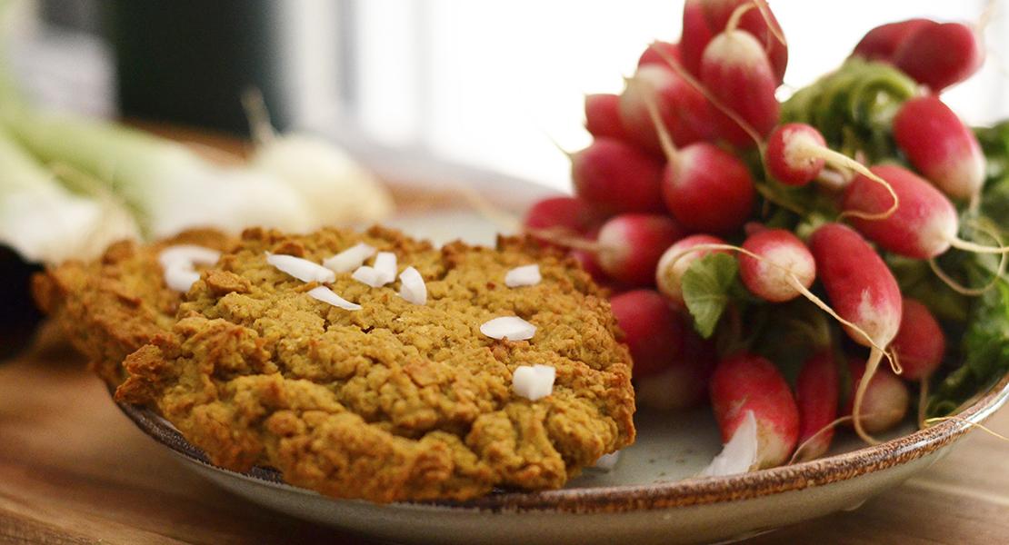 Galettes de quinoa & pois cassés au cucurma sur Swanee Rose Le Blog