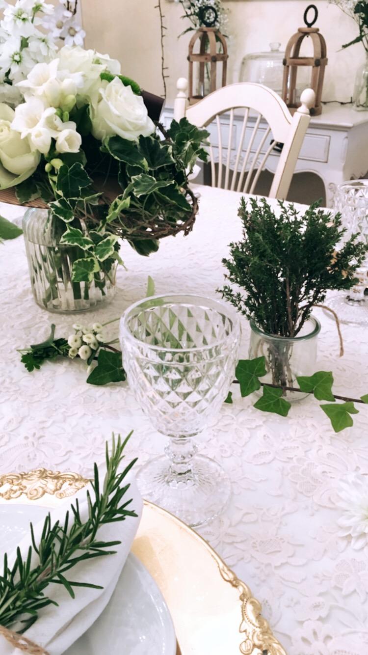 Décor de table romantique