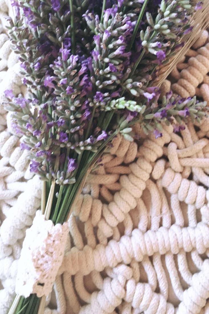 Simple bouquet de lavande séchée