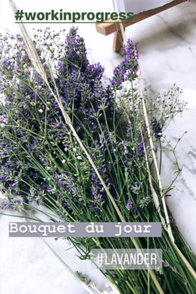 Simple bouquet de lavande séchée