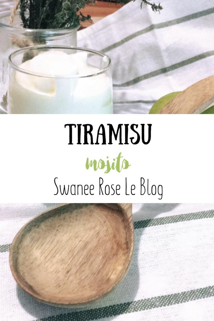 Tiramisù mojito sur Swanee Rose Le Blog