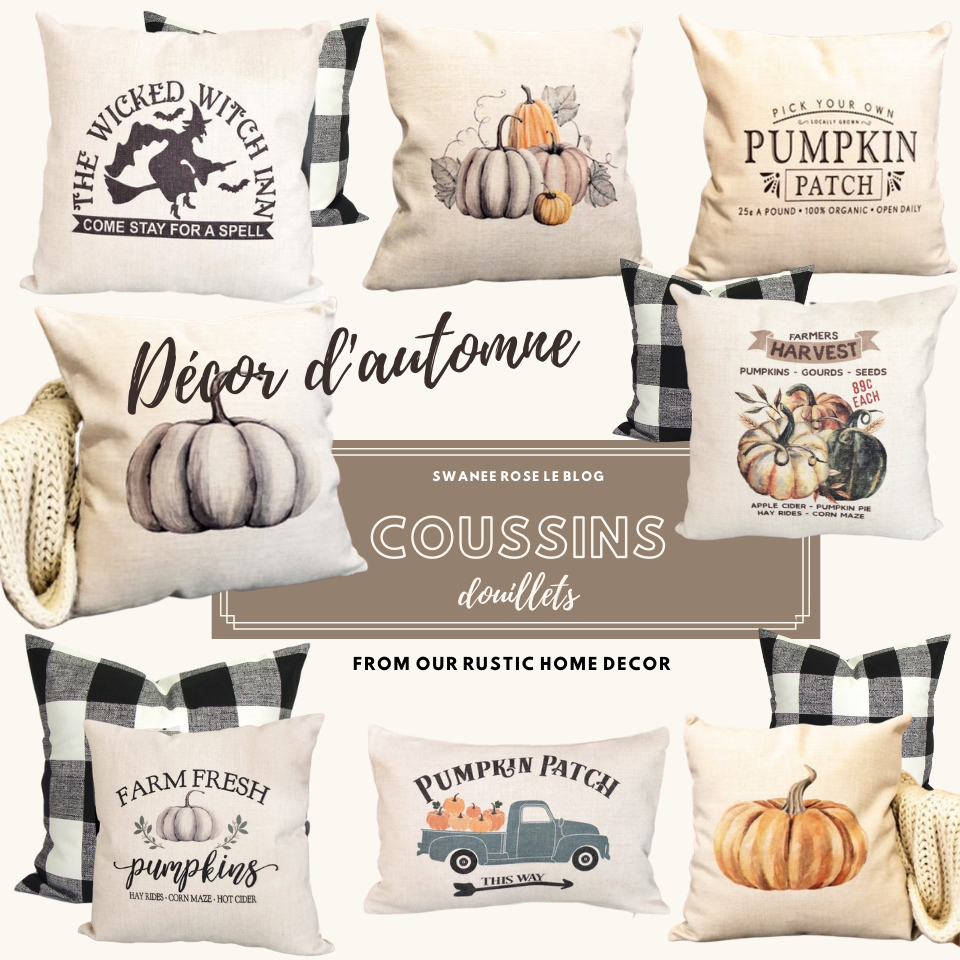 Housses Coussin Our Rustic Home Decor Pumpkins Farm Fresh