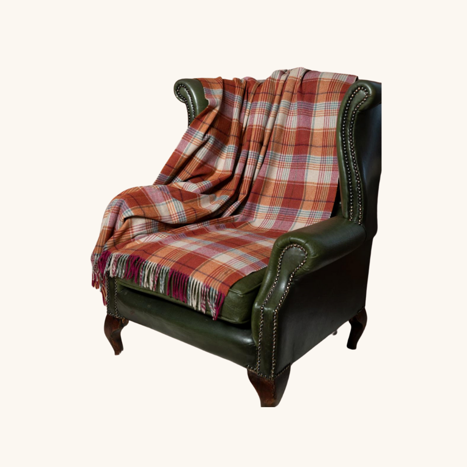 Blarney Wooden Mills Throw