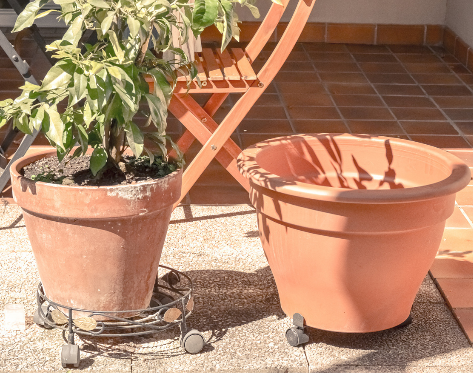 DIY Pot de jardin vieilli