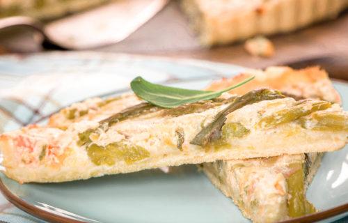 Quiche aux asperges grillées & Parmesan